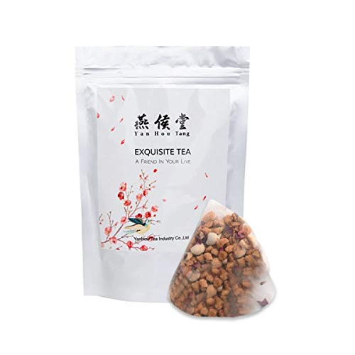 Yan Hou Tang Organic Red Jujube Rose and Glutinous Rice Tea Bags -20 Counts Nature Herbals Flowers for Lady Women Health Detox stress relief