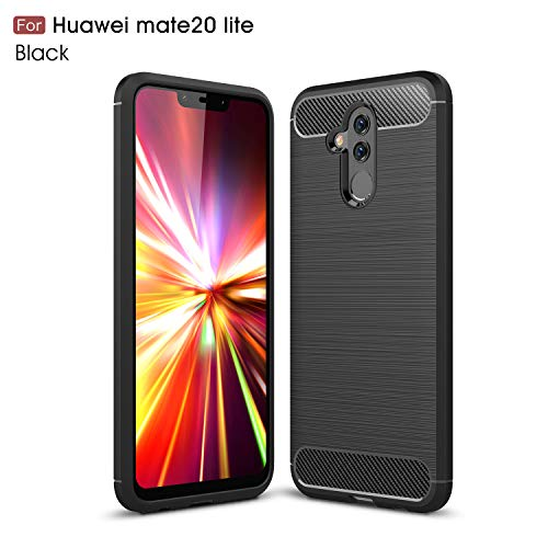 MYLB Case for Huawei Mate 20 Lite ,Carbon Fiber Design Flexible Soft TPU Case Highstrength Shockproof Protective Back Cover to Protect the Mobile Phone for Huawei Mate 20 ()