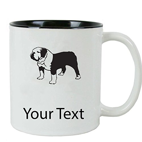 - Personalized Custom English Bulldog 11 oz White Ceramic Coffee Mug with White Gift Box