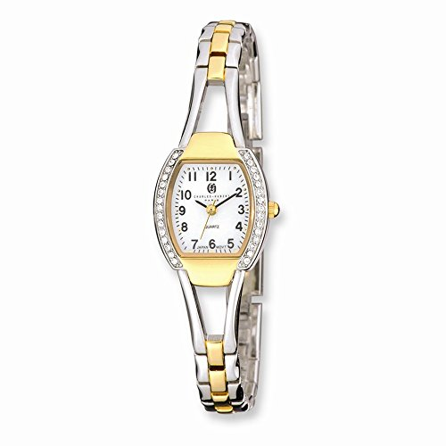 2 Tone White Dial (Charles-Hubert, Paris Women's 6831-T Classic Collection Two-Tone White Dial Watch)