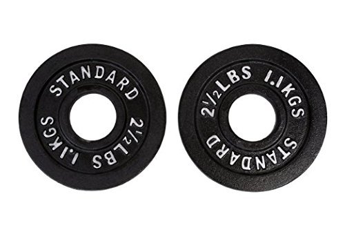 2.5 Pound Black Olympic Plate Pair