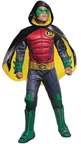 Rubie's Costume Boys DC Comics Premium Robin Costume, Small, Multicolor - Authentic Robin Costumes
