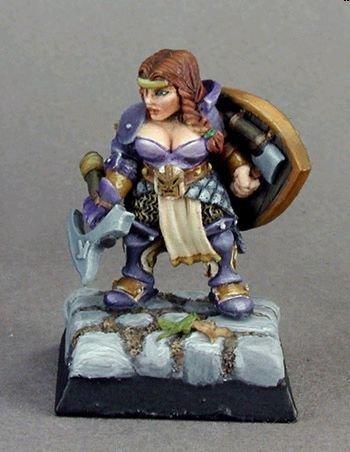 Freja Fangbreaker, Female Dwarf Sgt. by Reaper Miniatures
