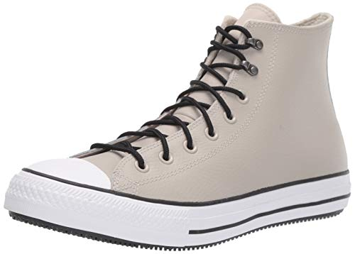 Converse Chuck Taylor All Star Water-Resistent Leather High Top Fashion Boot, Birch Bark/White/Black, 6.5 M US