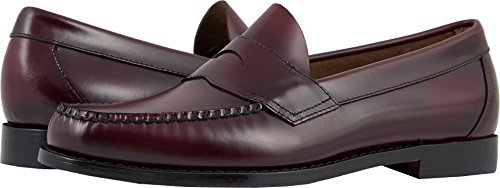 G.H. Bass & Co. Men's Logan Flat Panel Loafer,Burgundy,10.5 D - Logan Leather Shoes