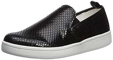 Calvin Klein Women's DEVA Sneaker, Black, 5 M US