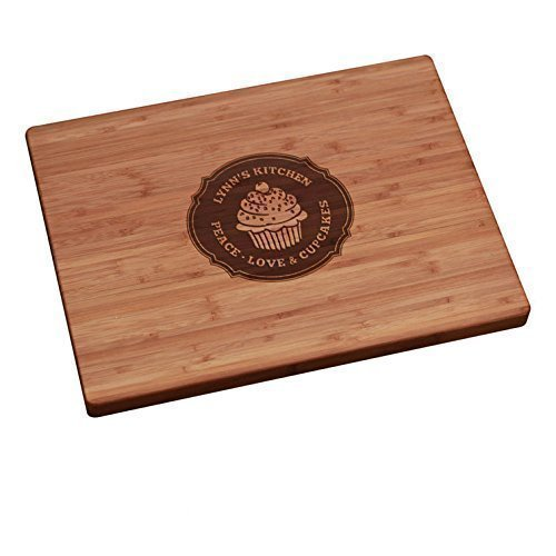 Personalized Cutting Board - Peace, Love, Cupcakes