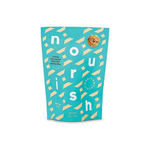 Nourish Snacks Crunchy Coconut Vanilla Granola Bites Single Serve 1oz Bags, 12 Count
