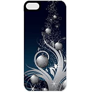 Apple iphone 5s Cases Customized Gifts For Holidays Blue Chritmas Tree Celebrations Holiday Black