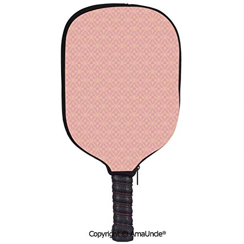 SCOXIXI Customized Racket Cover, Stylish Abstract Background with Soft Color Palette and a Cute Banner Wedding InspirationsRacket Cover,Protect Your Pickleball Paddles