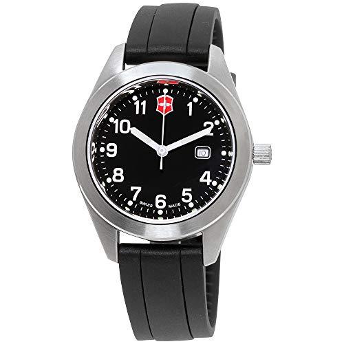 Victorinox Garrison Black Dial Silicone Strap Ladies Watch 26033CB