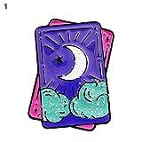 Hbinydepial Gothic Enamel Tarot Card Geometry Column Brooch Pin Jewelry Denim Jacket Punk Badge Jewelry - 1#