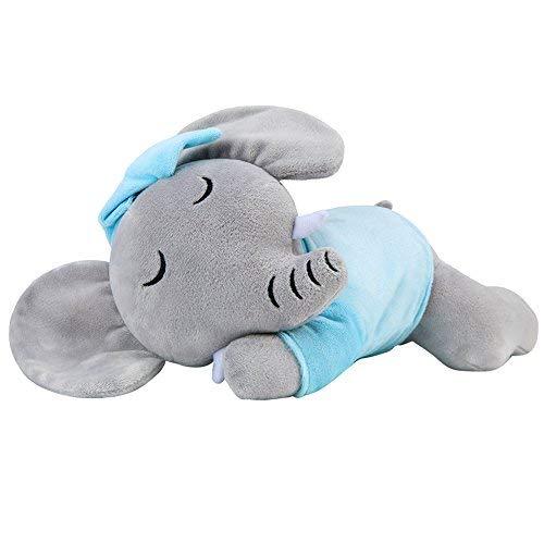 (KARRI Plush Elephant, 13'' Mini Elephant Plush,Blue Elephant Stuffed Animal)