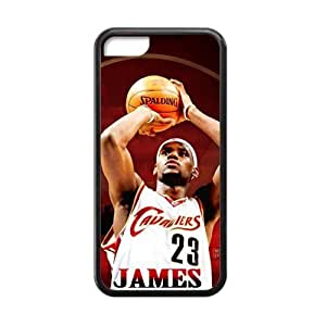 Hoomin Lebron James Last Shot iPhone 5C Cell Phone Cases Cover Popular Gifts(Laster Technology)