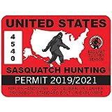 EW Designs United States Sasquatch Hunting Permit Sticker Decal Vinyl Bigfoot 13igfo0T Bumper Sticker Vinyl Sticker Car…