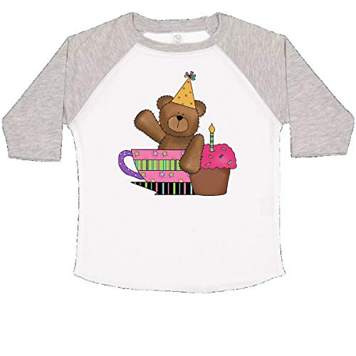 inktastic - 1st Birthday Bear Teacup Toddler T-Shirt 2T White and Heather 416d
