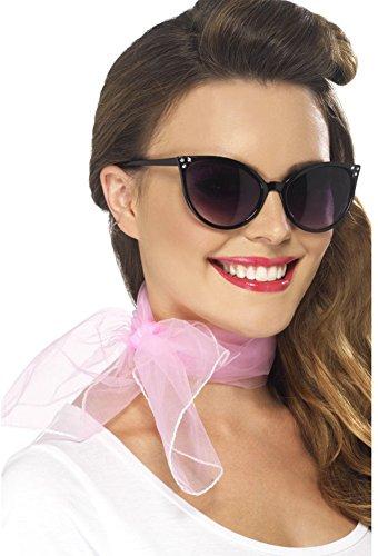 Smiffys Women's 50's Neck Scarf, Pink, Chiffon Style, One Size, 22750 ()