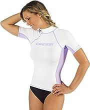 Cressi Rash Guard Camiseta con Filtro de Protección UV UPF 50+, Mujer, Blanco, M