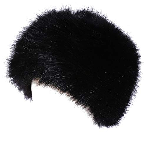 - Soul Young Women's Winter Faux Fur Cossak Russian Style Hat(one size,Black)