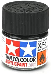 Xf-1 Flat Black Mat Akrilik Boya (10 Ml)