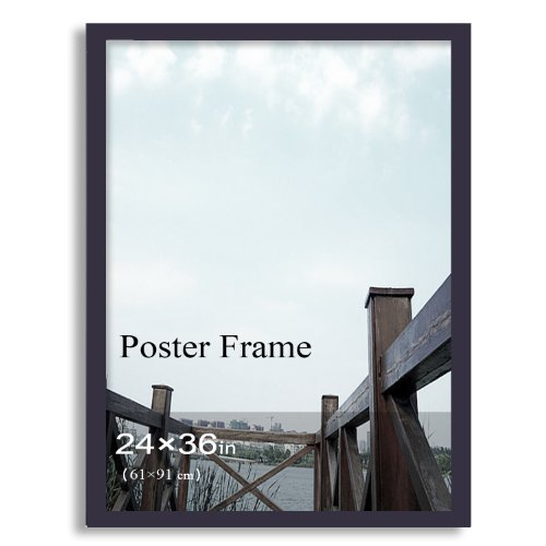 """FrameArmy Home/Office Accents Decoration Black Wooden, One Opening, Wall Hanging Picture Frame For Photos, Ads Posters, Certificate/Diploma/Lisences Showcasing (24""""x36"""")"""