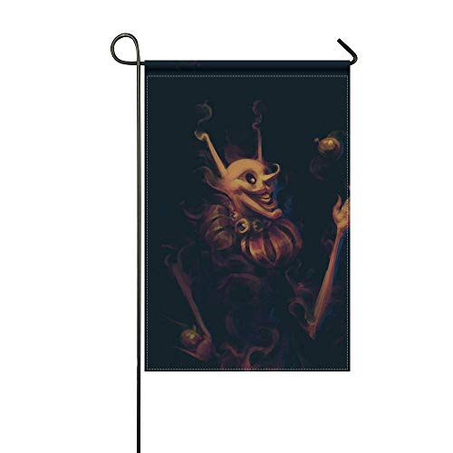 - MJG Garden Flag Juggler Jester Art 12x18 Inches(Without Flagpole)