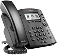 Polycom VVX 311 Corded Business Media Phone System - 6 Line PoE - 2200-48350-001 - AC Adapter (Included) (Renewed)