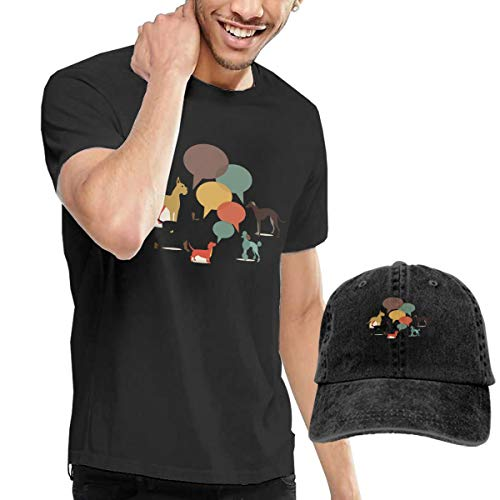 Goldsmith Sally Funny Dog Pet Mens Short Sleeve T-Shirt and Hat Costume Set -