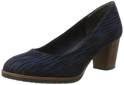 Marco Tozzi Women's 22402 Closed Toe Heels Blue (Navy Structure 855) F0xAiYoHIc