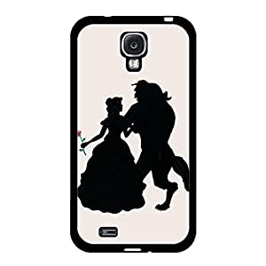 Cartoon Beauty And The Beast Phone Case for Samsung Galaxy S4 I9500,Prevalent Style Beauty And The Beast Cover Protection Cover for Samsung Galaxy S4 I9500