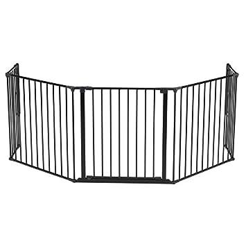 BabyDan Flex Hearth Gate Extra Large 35.4-109.5 , Black