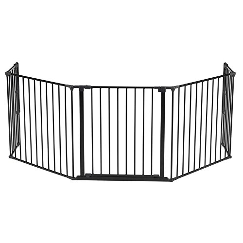 BabyDan Flex Hearth Gate Extra Large 35.4-109.5'', Black by Babydan