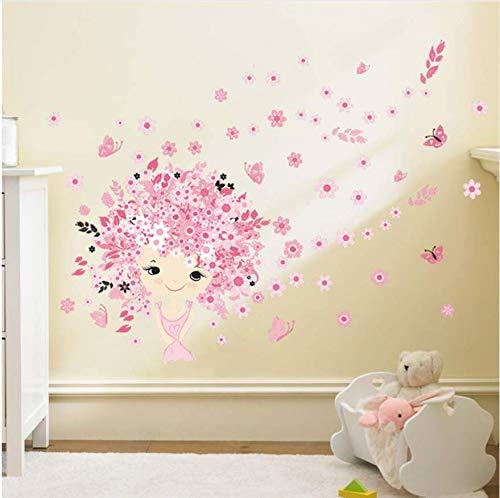 Flor de la flor de hadas rosa lindo bebé niña sirena ...