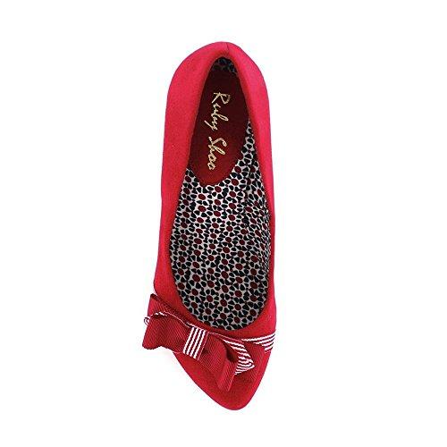 Rubis Susanna Zou Noire Rouge Haute Toile Talon Blanche Escarpin Bande OrO5nwdRq