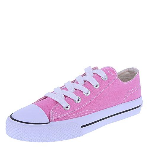 Airwalk Kids' Pink Kids' Legacee Sneaker 4.5 Regular (Pink Canvas Sneaker)