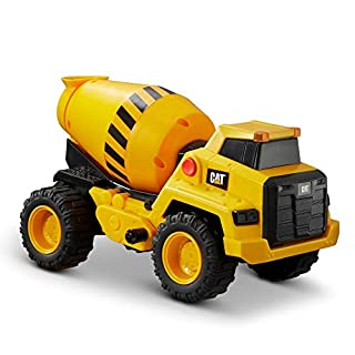 CatToysOfficial Construction Power Haulers Cement Mixer, Yellow