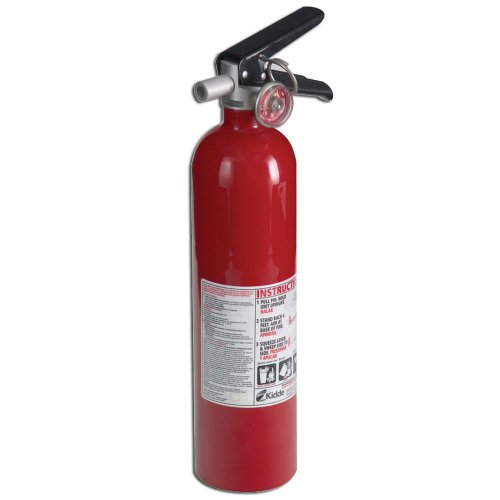 Kidde 21005776 Pro 110 Consumer Fire Extinguisher, Multi Purpose, UL Rated 1-A, 10-B:C, Red (Rechargeable Fire Extinguishers)
