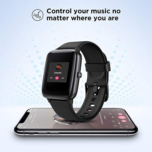 """LETSCOM Smart Watch Fitness Tracker Heart Rate Monitor Step Calorie Counter Sleep Monitor Music Control IP68 Water Resistant 1.3"""" Color Touch Screen Activity Tracking Pedometer for Women Men"""