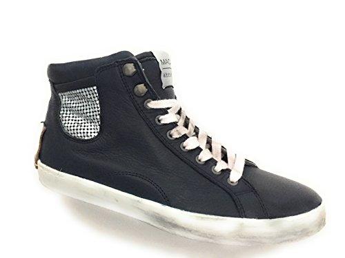 Maca Piel Kitzbühel Cordones Mujer Azul Zapatos De Para qwaCRqzx