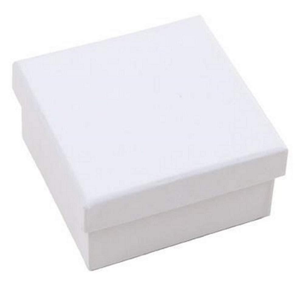 Rico Design Pappschachtel Schachtel Pappkarton Weisser Karton mit Deckel Quadratische Box …