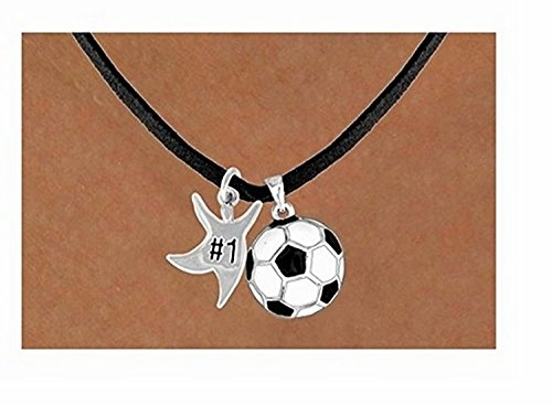 ''#1'' Star Man & Soccer Ball Necklace by Lonestar Jewelry