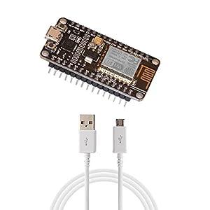 NodeMCU ESP8266 SoC IoT ESP-12E WiFi Development Board with Micro USB Cable - Lua Arduino MicroPython - New Version