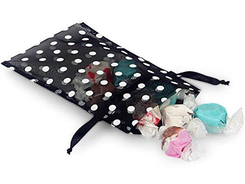 - Sheer Printed Polka Dot Organza Bags- Black & White Dots 4x6 Polka Dot Organza Bags (9 Packs; 10 Bags Per Pack) - WRAPS-B52239