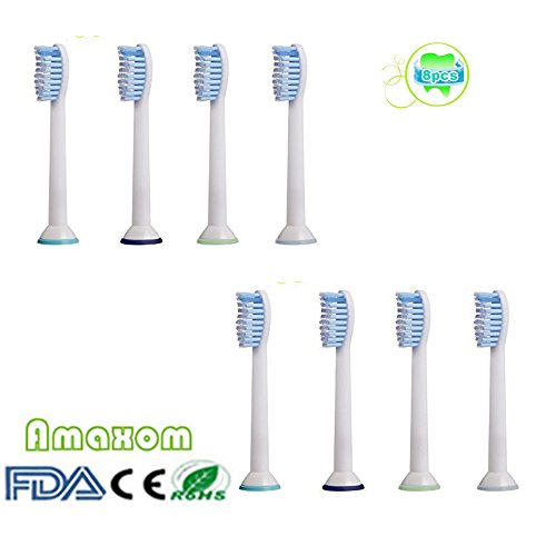 Jager Costume For Sale (Amaxom Premium Replacement Toothbrush Heads for Philips Sonicare Sensitive Standard Size Toothbrushes HX6054(HX6053/64), 8 Count(2-pack).)