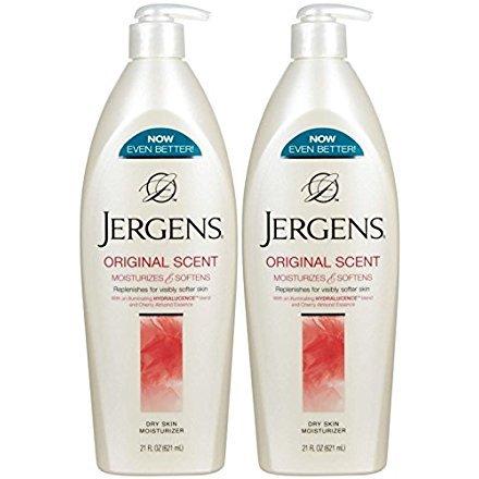 - Jergens Original Scent Dry Skin Moisturizer, 21 Ounce Bottle (Pack of 2)