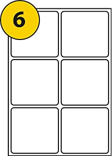 6 labels per page sheet x 100 a4 sheets label size 95mm x 95mm