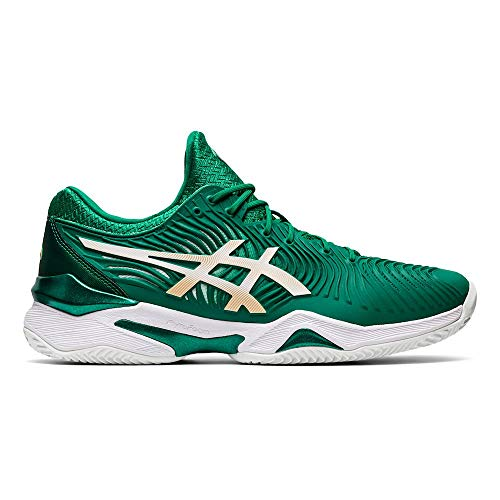 ASICS Court FF Novak Clay Verde Blanco 1041A090-301: Amazon.es ...