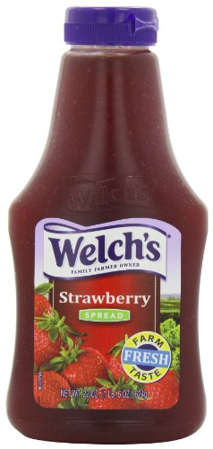 Welch's Strawberry Spread, 22-Ounce Squeezable Bottles (Pack of 6)