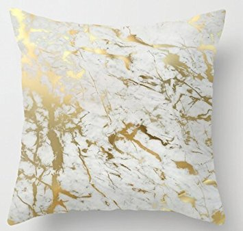 UniqueType Fashion Pillowcases Gold Marble Inspired By The Beauty Of Marble Style Nice Pillow Cover Bedding Set Pillow Cases 16 x 16 Inches (Gold Pillow)