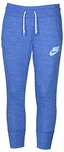 Nike Women's Sport Casual Gym Vintage Capris-Heather Blue-Medium